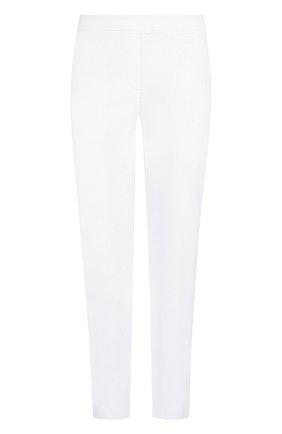 Однотонные брюки с эластичным поясом и карманами   Фото №1