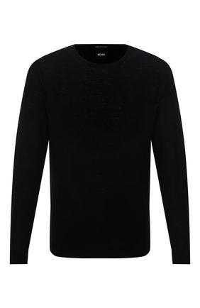 Мужской шерстяной джемпер BOSS черного цвета, арт. 50378575 | Фото 1