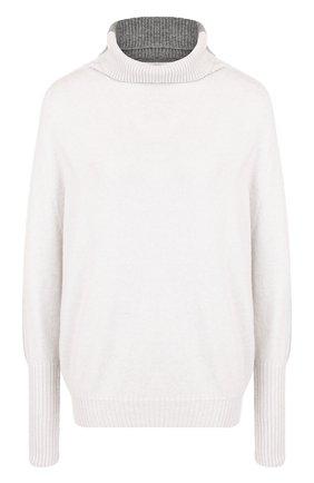 Вязаный пуловер с воротником-стойкой D.Exterior светло-серый | Фото №1