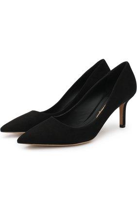 Замшевые туфли Adele на каблуке kitten heel | Фото №1