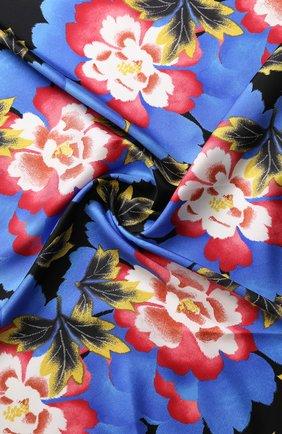 Шелковый платок с цветочным принтом Kenzo разноцветный | Фото №1