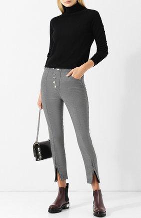 Укороченные брюки с металлическими пуговицами Alexander Wang серые | Фото №1