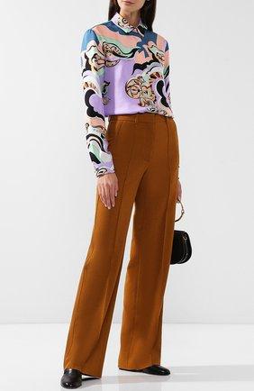 Женская шелковая блуза прямого кроя с принтом Emilio Pucci, цвет разноцветный, арт. 8RRJ31/8R725 в ЦУМ | Фото №1