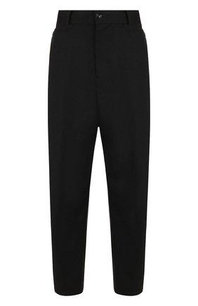 Однотонные укороченные брюки из шерсти | Фото №1