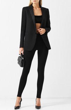 Однотонные шерстяные брюки-скинни Tom Ford черные   Фото №1