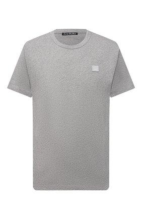 Мужская хлопковая футболка ACNE STUDIOS светло-серого цвета, арт. 25E173/M   Фото 1
