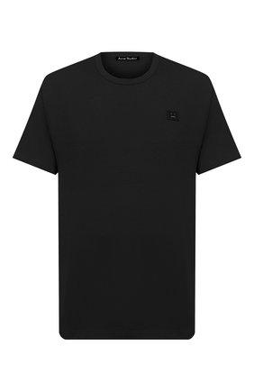 Мужская хлопковая футболка ACNE STUDIOS черного цвета, арт. 25E173/M | Фото 1