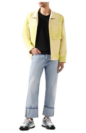 Мужская хлопковая футболка ACNE STUDIOS черного цвета, арт. 25E173/M | Фото 2