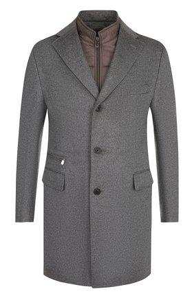 Однобортное шерстяное пальто с подстежкой | Фото №1
