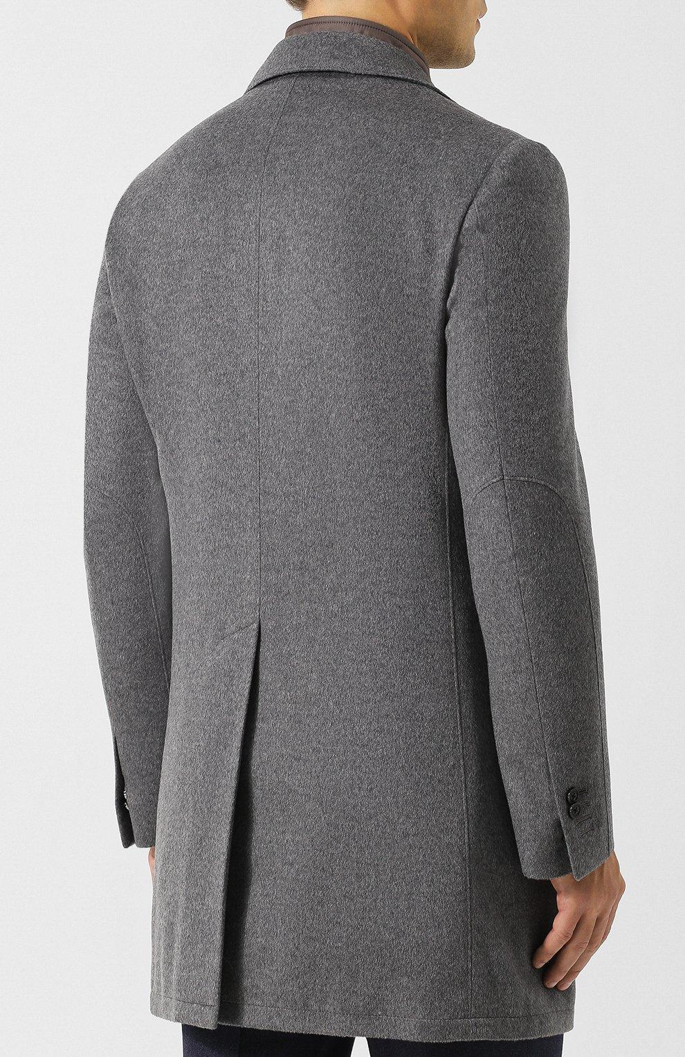 Однобортное шерстяное пальто с подстежкой   Фото №4