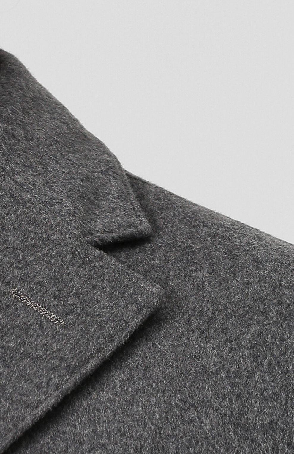 Однобортное шерстяное пальто с подстежкой   Фото №5