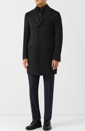 Мужской однобортное шерстяное пальто с подстежкой CORNELIANI темно-серого цвета, арт. 821584-8813179/00 | Фото 2