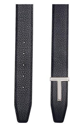 Мужской кожаный ремень  TOM FORD темно-синего цвета, арт. TB178P-CL8 | Фото 2