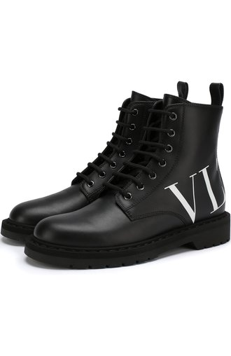 Кожаные ботинки Valentino Garavani VLTN