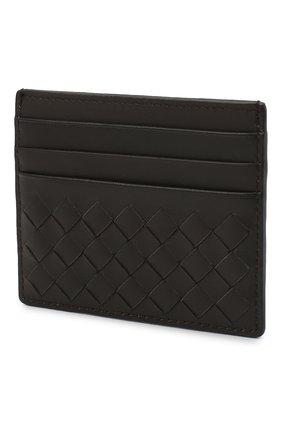 Женский кожаный футляр для кредитных карт с плетением intrecciato BOTTEGA VENETA коричневого цвета, арт. 162150/V001N | Фото 2