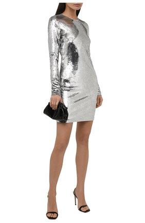 Женское платье-футляр с длинным рукавом и пайетками TOM FORD серебряного цвета, арт. ABJ098-FAE360   Фото 2