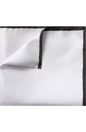 Шелковый платок с контрастным кантом   Фото №1