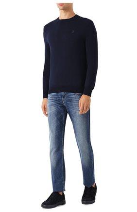 Мужской шерстяной джемпер POLO RALPH LAUREN темно-синего цвета, арт. 710714346 | Фото 2