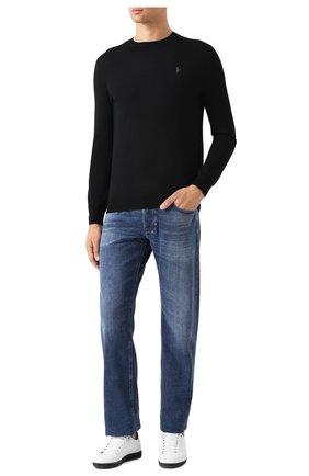 Мужской шерстяной джемпер POLO RALPH LAUREN черного цвета, арт. 710714346 | Фото 2