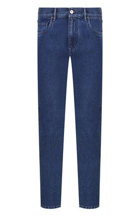Хлопковые джинсы прямого кроя   Фото №1