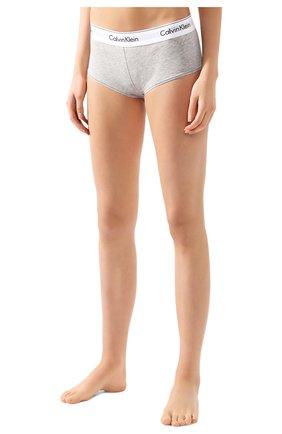 Женские трусы-шорты CALVIN KLEIN серого цвета, арт. F3788E | Фото 2