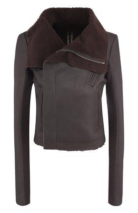 Кожаная куртка на меховой подкладке | Фото №1