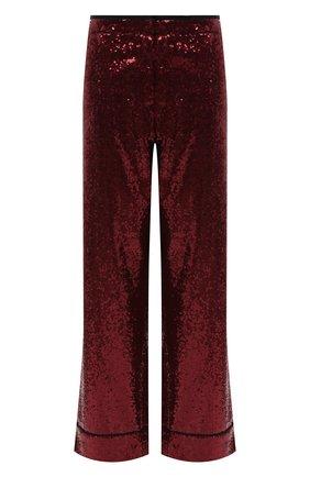 Укороченные брюки с контрастной отделкой и пайетками | Фото №1