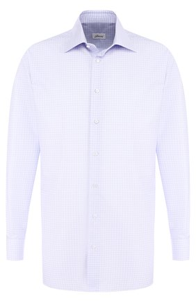 Мужская хлопковая сорочка с воротником кент BRIONI сиреневого цвета, арт. RCLU0U/07068 | Фото 1