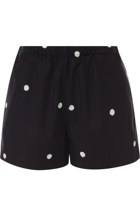 Хлопковые шорты с эластичным поясом в горох | Фото №1