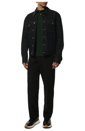 Мужское хлопковое поло с короткими рукавами POLO RALPH LAUREN зеленого цвета, арт. 710692225 | Фото 2