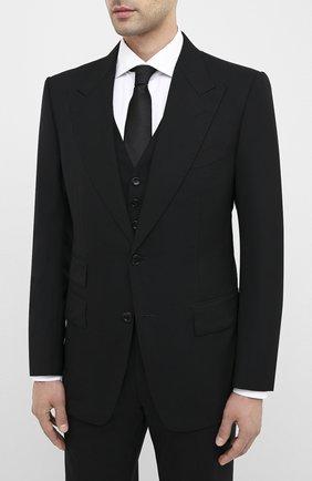 Мужской шерстяной смокинг с остроконечными лацканами TOM FORD черного цвета, арт. 422R12/31AL41 | Фото 2