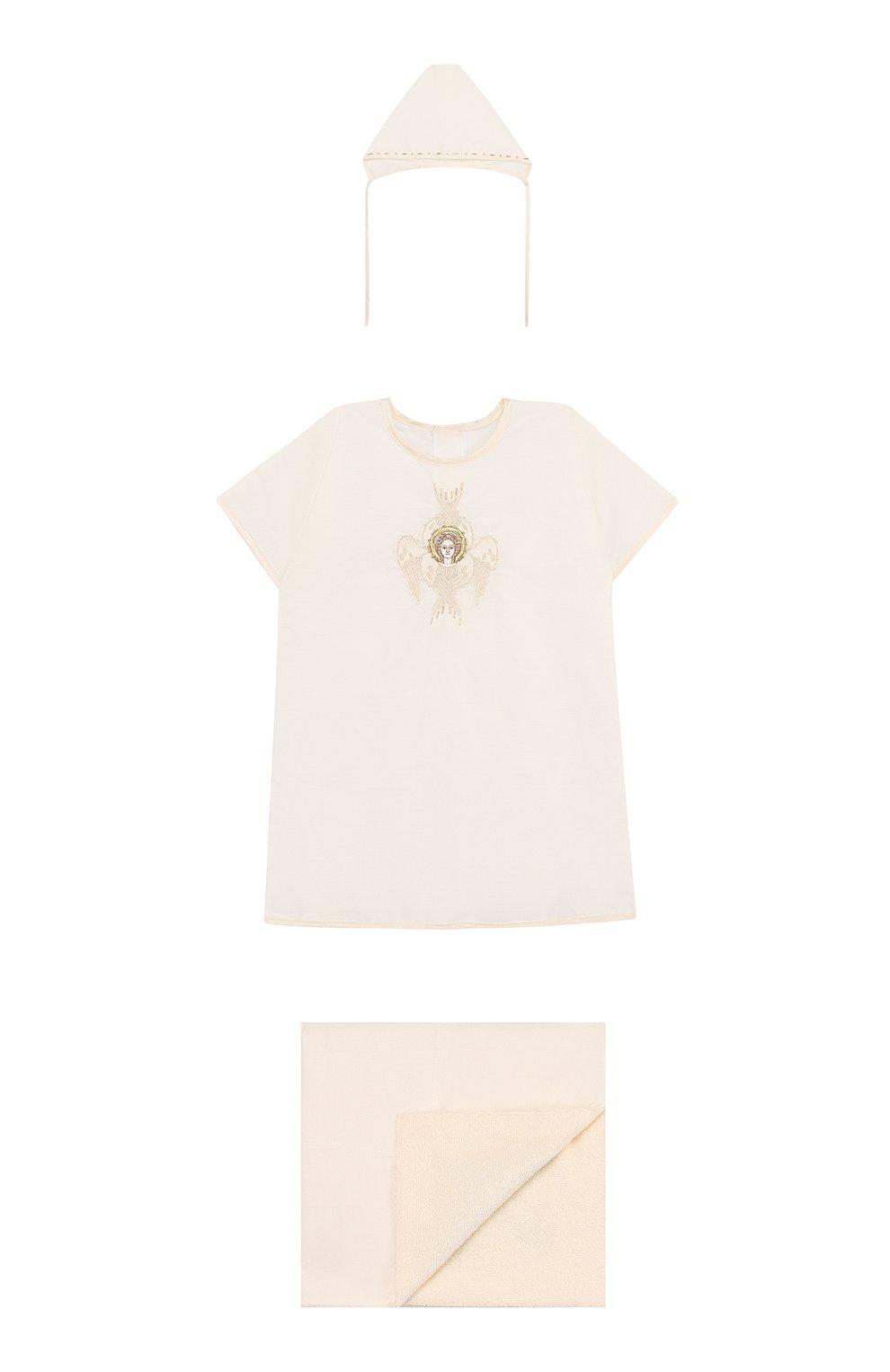Детского крестильный набор шестикрылый серафим из 3 изделий CHEPE белого цвета, арт. 371225   Фото 1