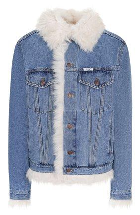 Джинсовая куртка на меховой подкладке | Фото №1