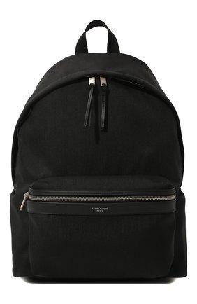 Мужской текстильный рюкзак city SAINT LAURENT черного цвета, арт. 534967/GIV3F | Фото 1