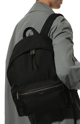 Мужской текстильный рюкзак city SAINT LAURENT черного цвета, арт. 534967/GIV3F   Фото 2