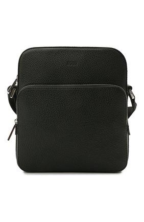 Мужская кожаная сумка-планшет BOSS черного цвета, арт. 50390385 | Фото 1
