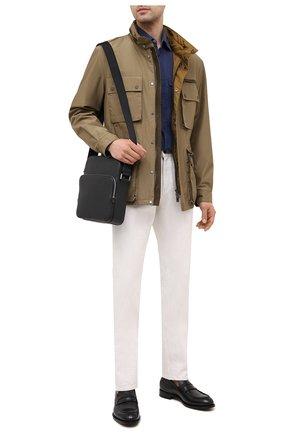 Мужская кожаная сумка-планшет BOSS черного цвета, арт. 50390385 | Фото 2