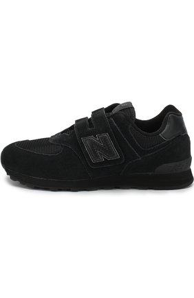 Детские кроссовки new balance 574 classic New Balance черного цвета | Фото №1