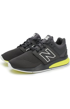 Детские кроссовки new balance 247v2 tritium New Balance черного цвета | Фото №1
