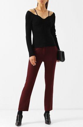 Однотонный пуловер фактурной вязки Altuzarra черный   Фото №1