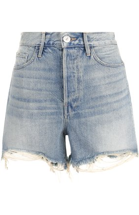 Джинсовые шорты с потертостями   Фото №1