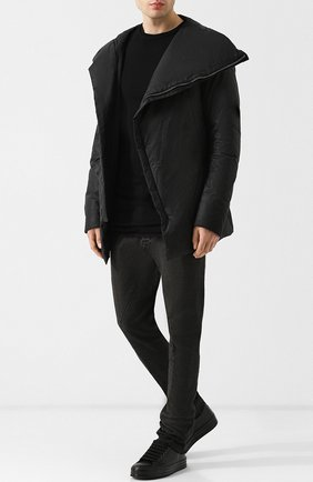 Хлопковая куртка с косой молнией Masnada хаки | Фото №1