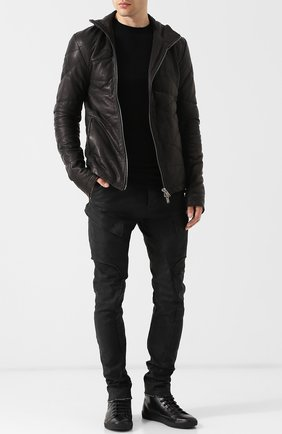 Хлопковые брюки-скинни Masnada черные | Фото №1