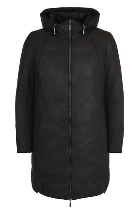 Хлопковая куртка с капюшоном   Фото №1