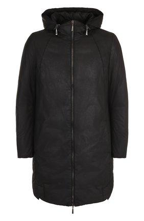 Хлопковая куртка с капюшоном Masnada черная | Фото №1
