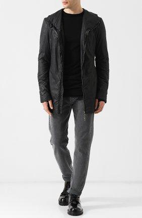 Однотонная куртка на молнии Masnada черная | Фото №1