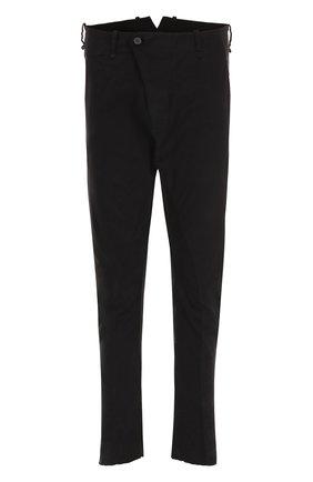 Хлопковые брюки зауженного кроя Masnada черные | Фото №1