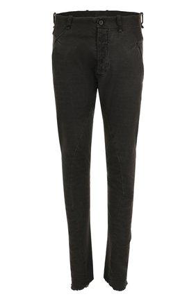 Хлопковые брюки зауженного кроя Masnada серые | Фото №1