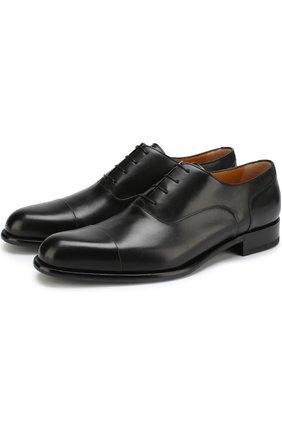 Классические кожаные оксфорды A. Testoni черные | Фото №1
