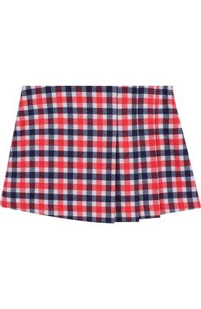 Мини-юбка с защипами | Фото №1